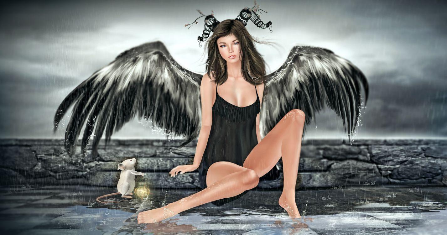 Обои фэнтези, арт, ангел картинки на телефон