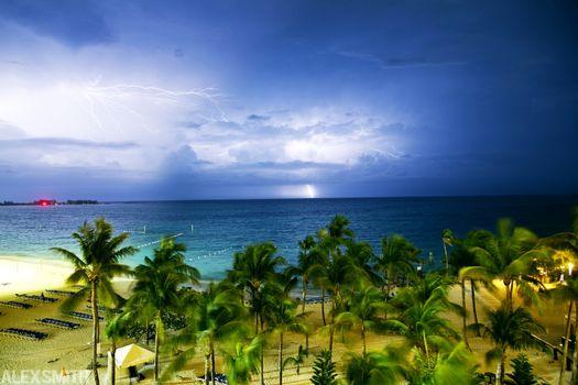 Бесплатные фото гроза,пляж,океан