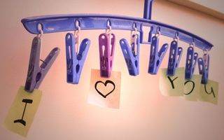 Photo free hanger, clothespins, stickers