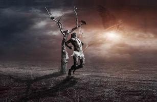 Бесплатные фото сюрреалистично,манипуляция,photomanipulation,Сюрреалистическая реальность,дерево,месть,воин