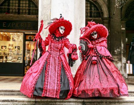 Фото бесплатно маски, костюмы, венецианский карнавал