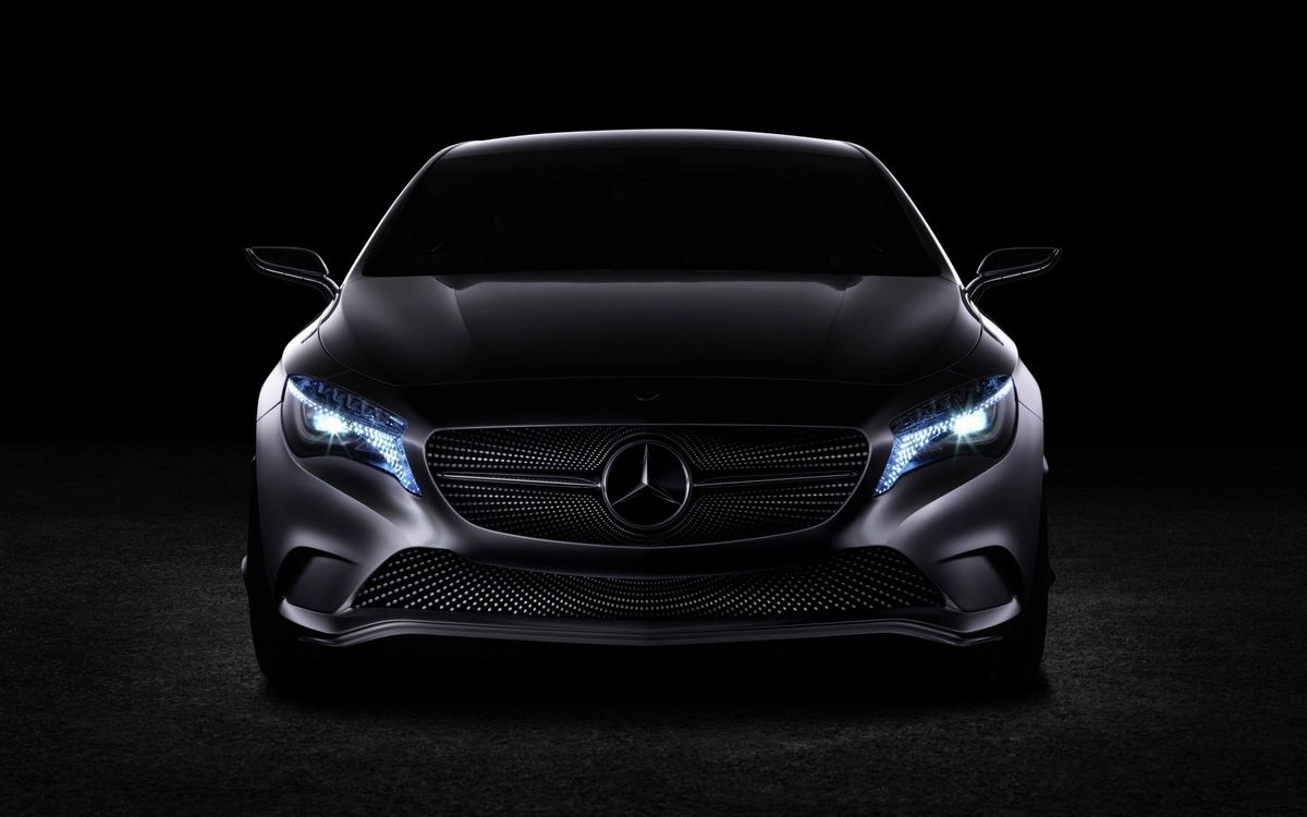 Free photo Mercedes, black, matte - to desktop