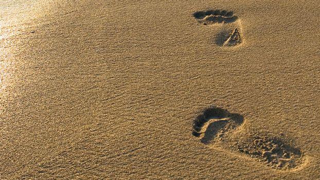 Фото бесплатно следы, песок, берег