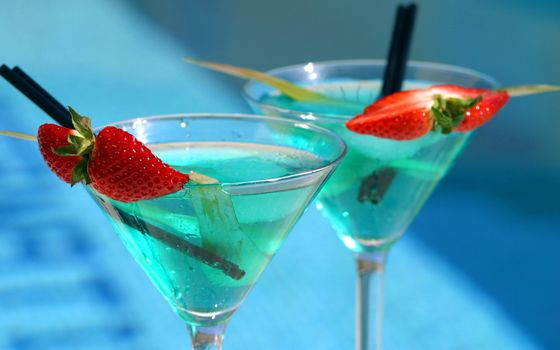 Фото бесплатно коктейль, ягоды, стекло
