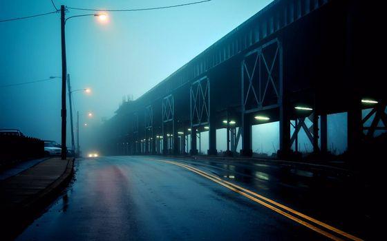 Фото бесплатно городская дорога, столбы, фонари