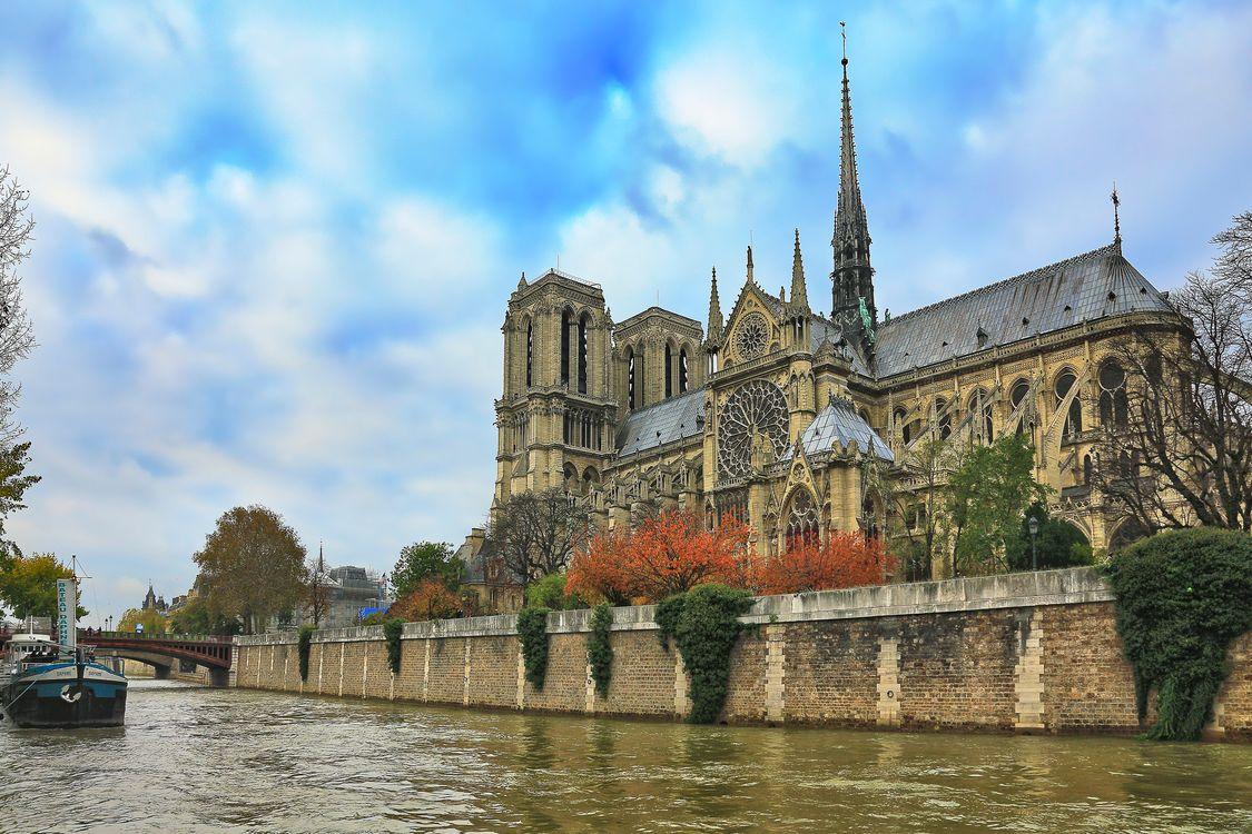 Фото бесплатно Собор Парижской Богоматери, Notre-Dame de Paris, Paris - на рабочий стол