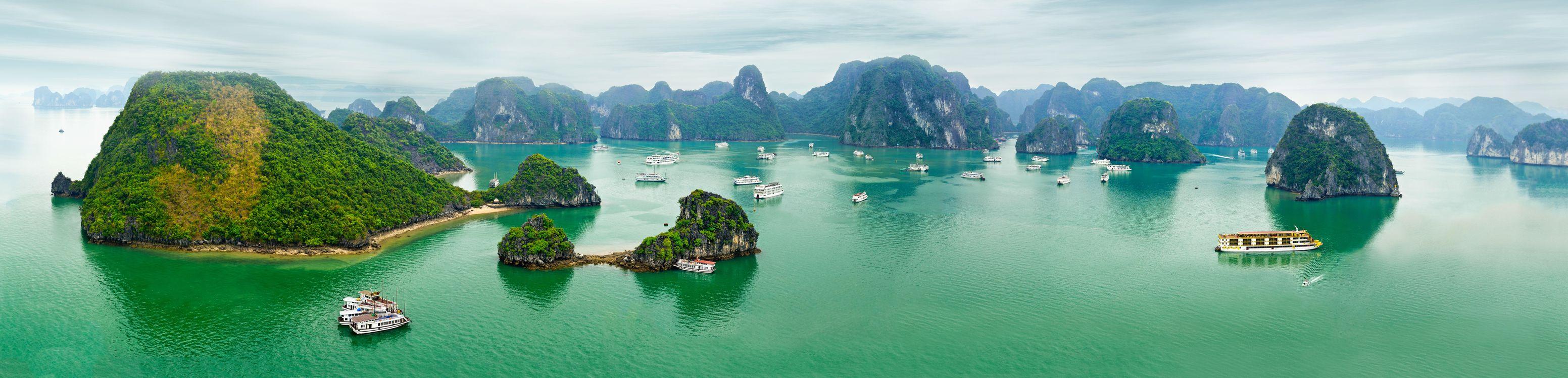 Обои Halong Bay, Vietnam, море картинки на телефон