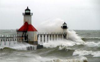 Бесплатные фото маяк, океан, волны, ветер, брызги