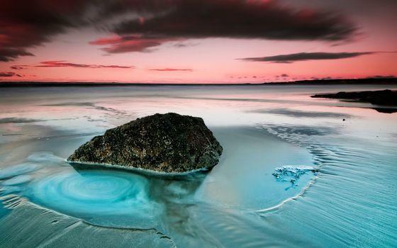 Фото бесплатно отмель, камень, песок