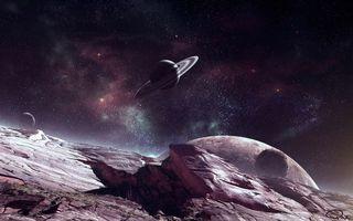 Фото бесплатно планеты, кольца, поверхность