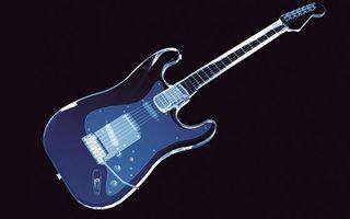 Обои гитара, электронная, рисунок, струны, гриф, колки