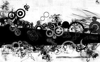 Бесплатные фото черно-белое,полосы,круги,пятна,заставка,обои