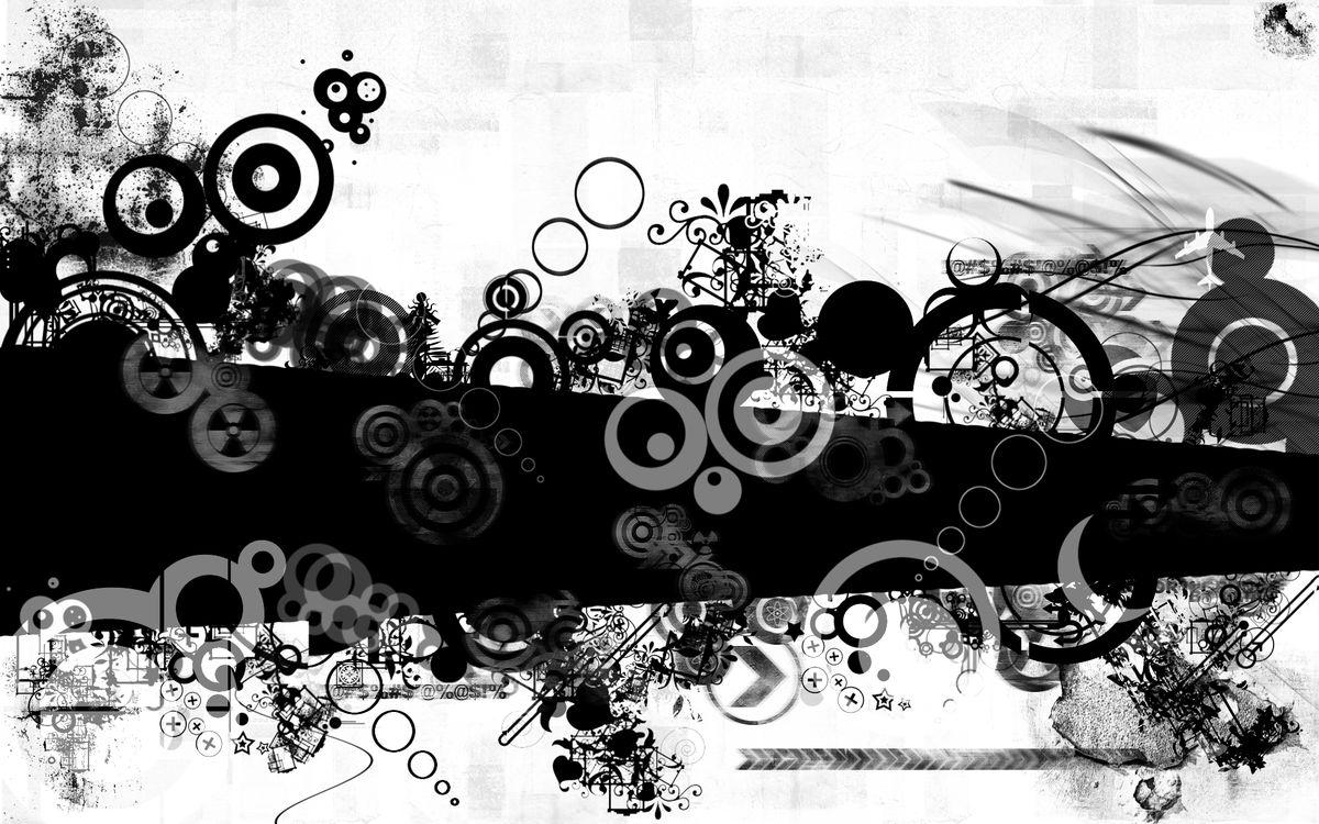 Фото бесплатно черно-белое, полосы, круги, пятна, заставка, обои, абстракции