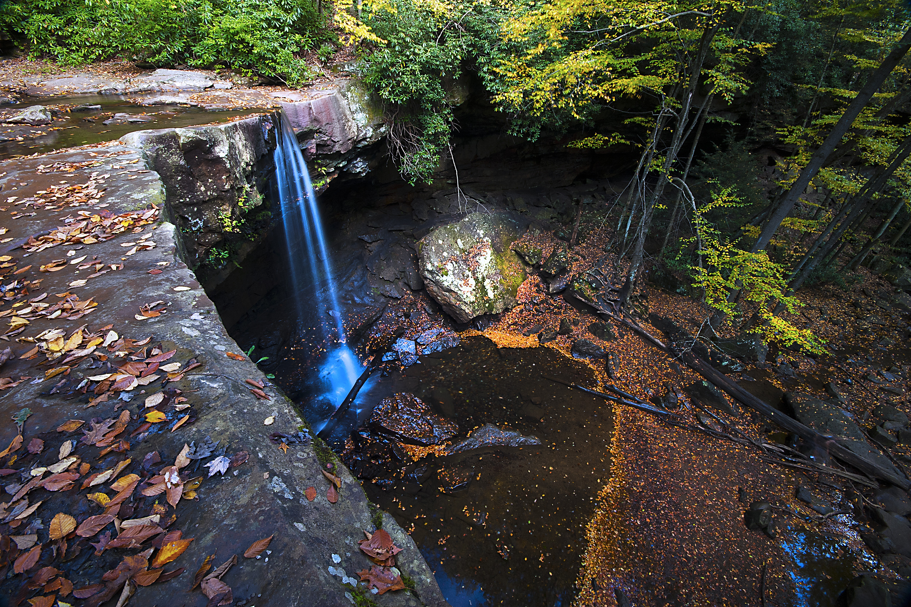 обои Ohio Pyle State Park, осень, лес, скалы картинки фото