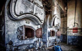 Заставки старая печь, завод
