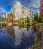 Бесплатные фото Yosemite National Park,Merced River,осень,река,деревья,горы,пейзаж