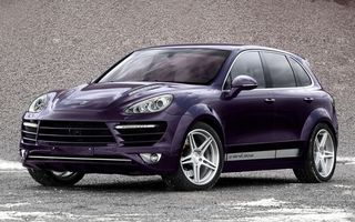 Photo free Porsche Cayenne, lilac, lights