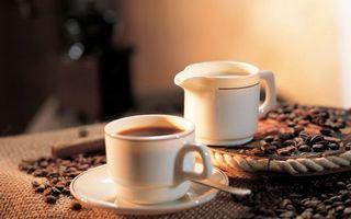 Бесплатные фото блюдце,ложечка,чашка,кофе,зерна,молочник