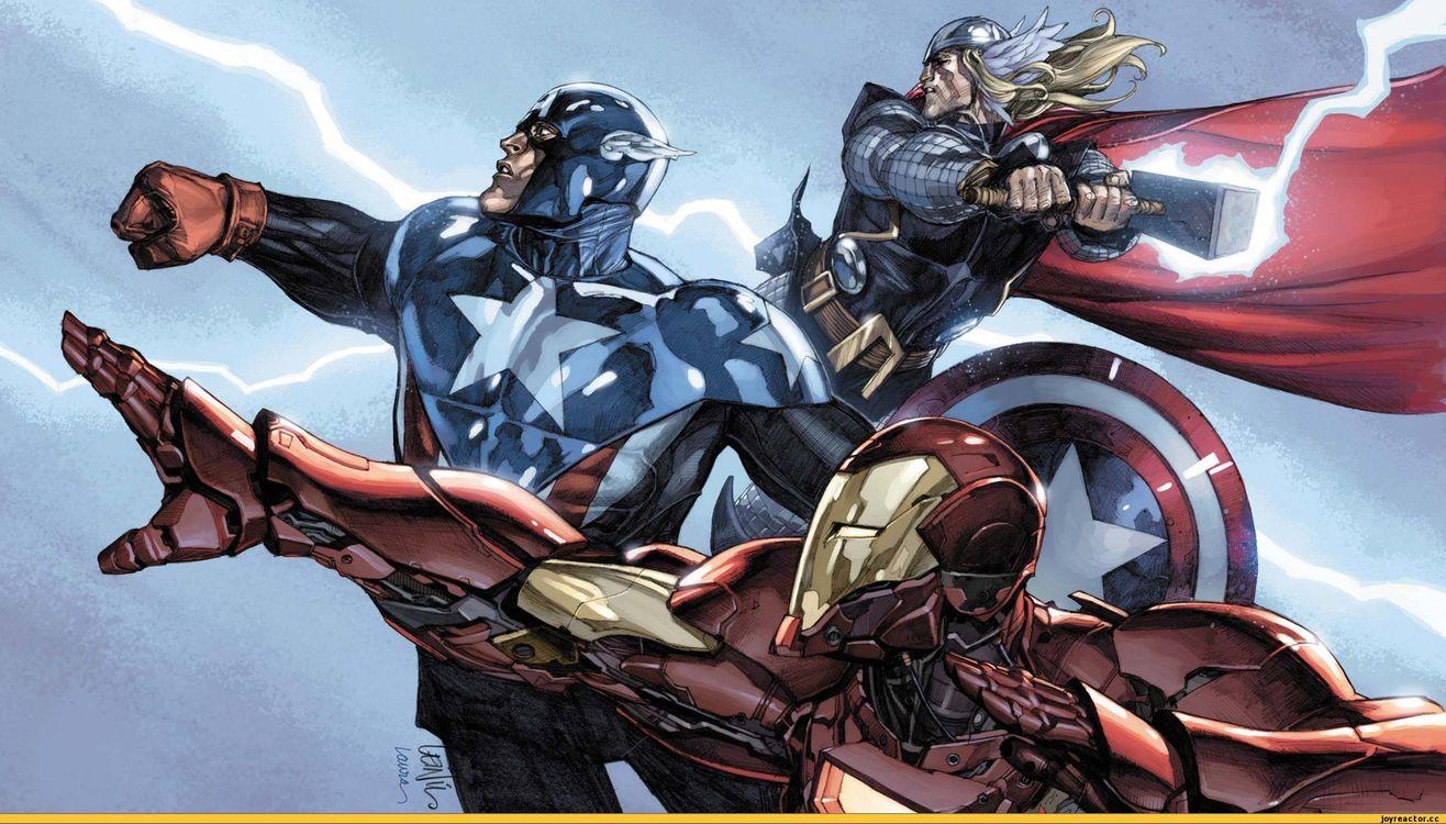 Фото бесплатно Marvel, Капитан Америка, мстители, супергерои, Тор, железный человек, разное
