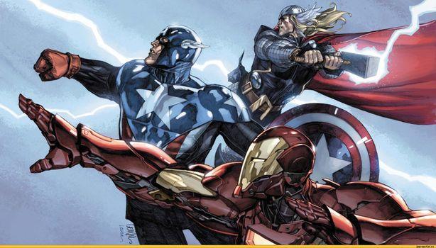 Фото бесплатно Marvel, Капитан Америка, мстители