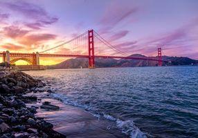 Бесплатные фото Мост Золотые Ворота,golden gate bridge,Сан Франциско,San Francisco,закат