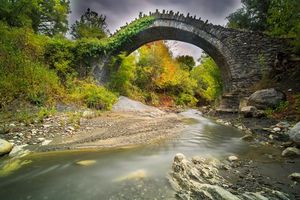 Фото бесплатно осень, арка, мост