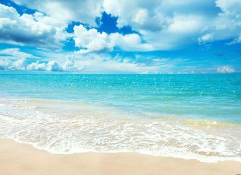 Заставки песок, пляж, прозрачная вода