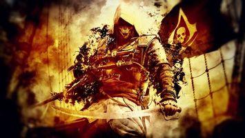Фото бесплатно assassins creed, герой, мечи