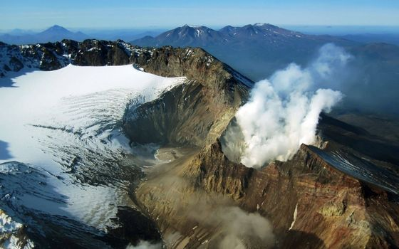 Заставки горы, снег, вулкан