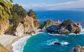 Бесплатные фото море,камни,скалы,берег,песок,растительность,горизонт