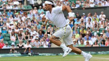 Фото бесплатно большой теннис, спортсмен, ракетка, корт, трибуны, зрители