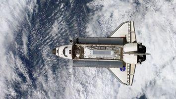 Бесплатные фото шаттл,полет,орбита,земля,облака