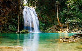 Фото бесплатно тропики, гора, водопад