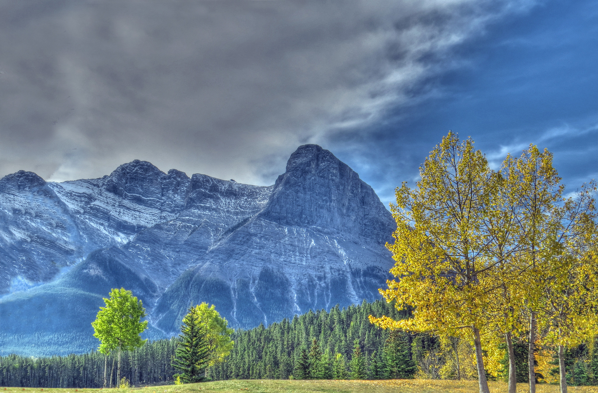 обои Canmore, Alberta, горы, осень картинки фото