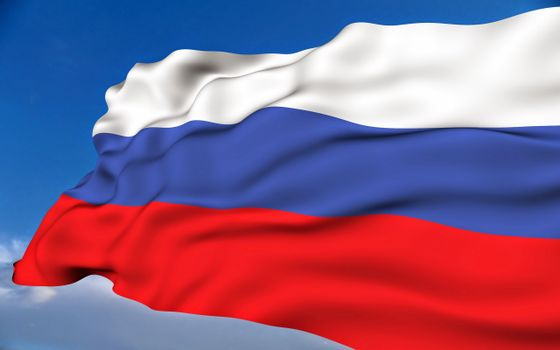 Фото бесплатно флаг, России, развивается
