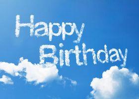 Бесплатные фото с днем рождения, happy birthday, небо, облака, надпись