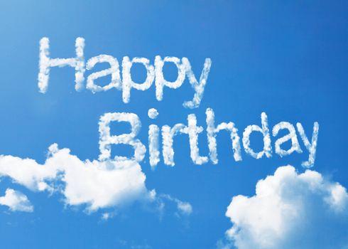 Бесплатные фото с днем рождения,happy birthday,небо,облака,надпись