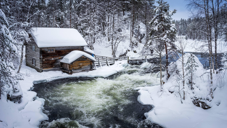 Финляндия, зима, снег