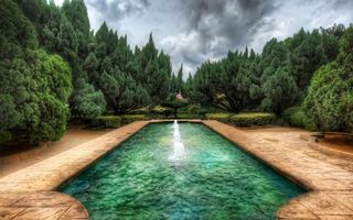 Бесплатные фото фонтан,вода,деревья,плитка,ландшафтный,дизайн