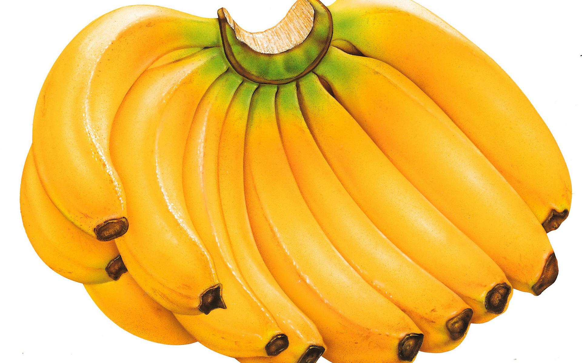 фрукты, бананы, связка