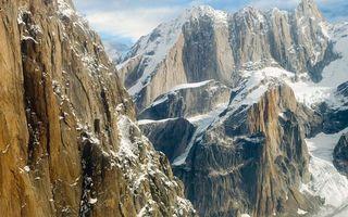 Фото бесплатно горы, скалы, камни, снег