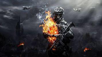 Фото бесплатно warface, солдат, огонь