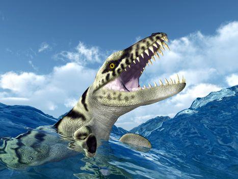 Фото бесплатно динозавр, хищник, оскал