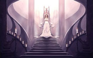 Бесплатные фото Меч Истины,фэнтези,девушка,трон