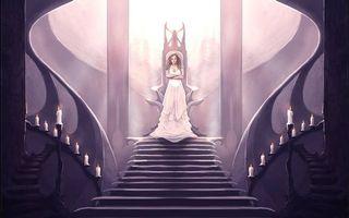 Фото бесплатно Меч Истины, фэнтези, девушка, трон