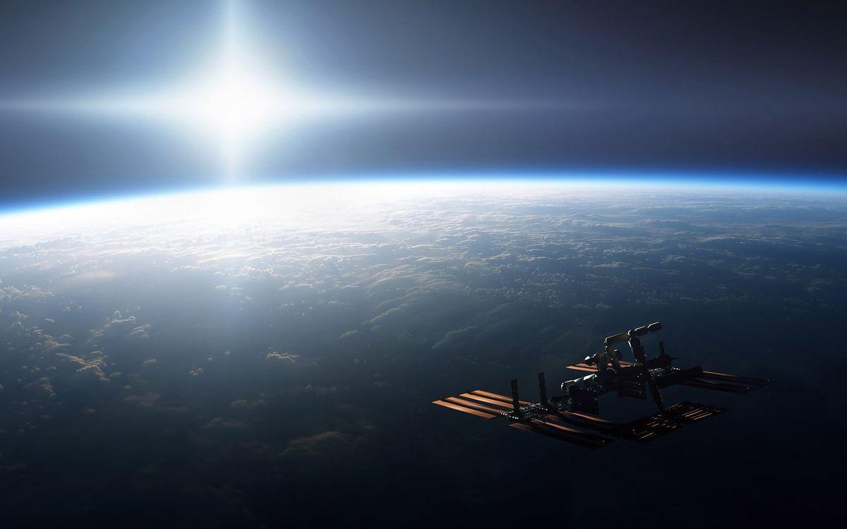 Фото бесплатно планета, земля, орбита, спутник, солнце, невесомость, космос