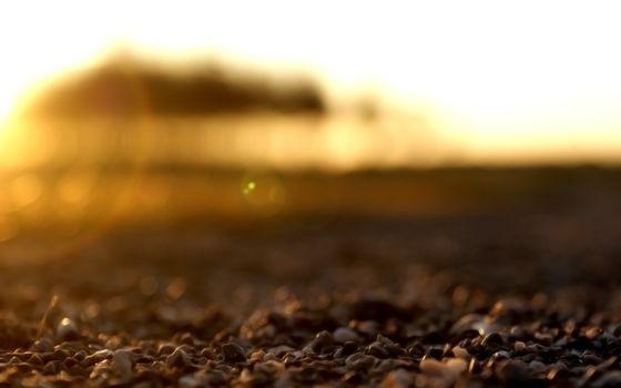 Фото бесплатно камни, песок, закат