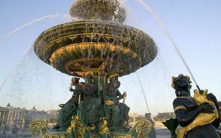 Заставки площадь, фонтан, вода, струи, брызги, чаша, статуи