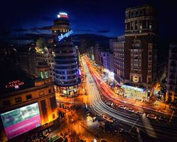 Заставки Мадрид, ночь, Испания