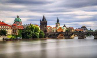 Фото бесплатно Карлов мост, река Влтава, Чехия